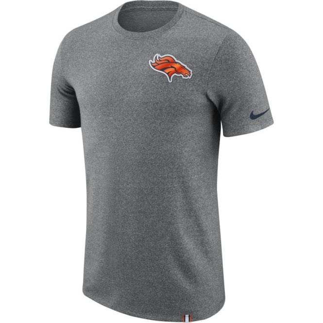 Nike NFL Denver Broncos Marled Patch Dri-Fit T-Shirt
