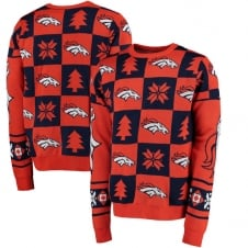 NFL Denver Broncos Patches Ugly Sweater