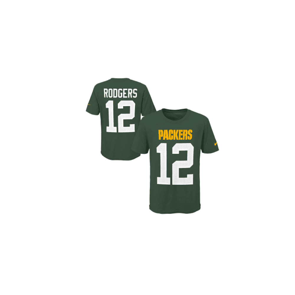 Nike NFL Green Bay Packers Aaron Rodgers Youth Pride Name and Number 3.0 T-Shirt