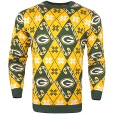 NFL Green Bay Packers Candy Cane Ugly Sweater