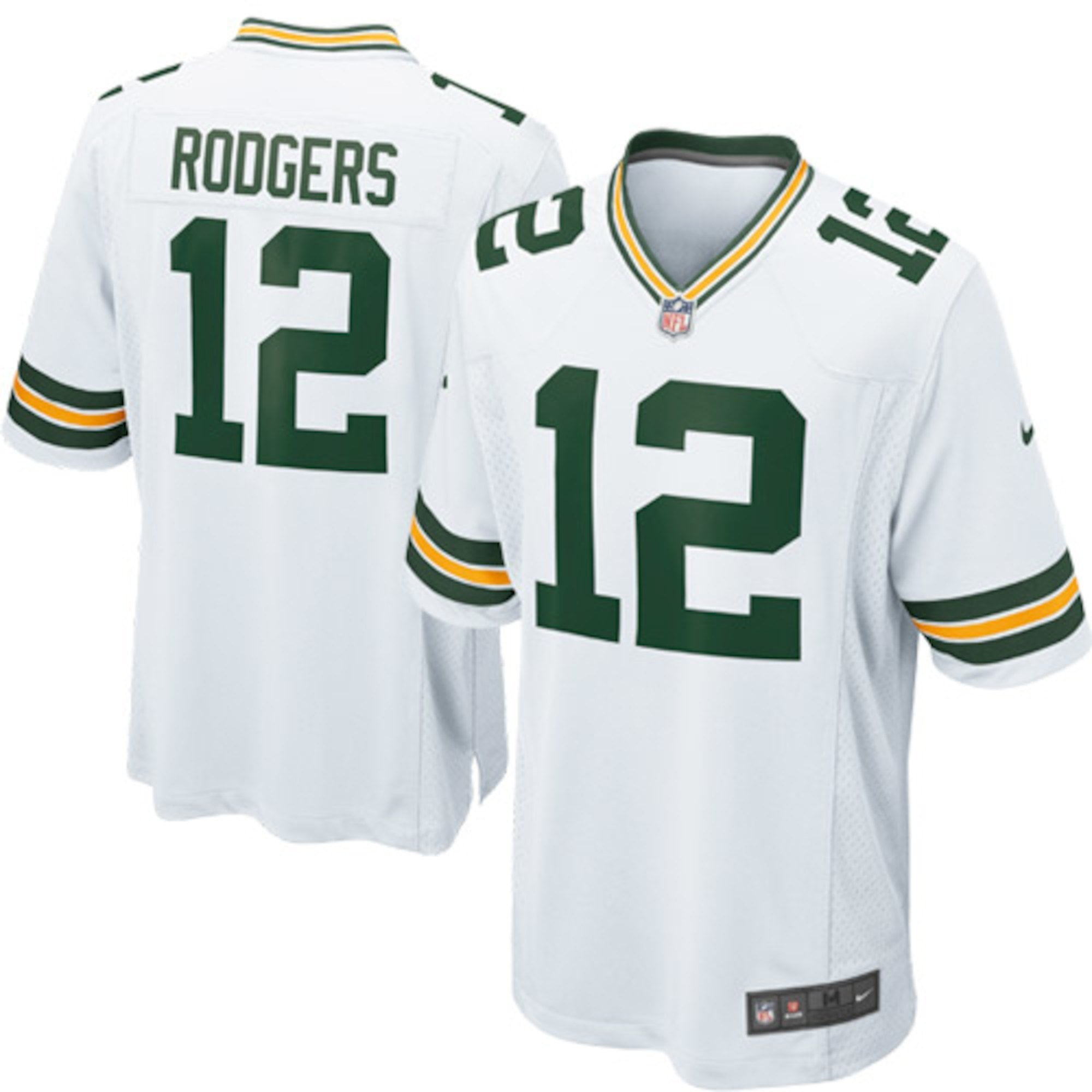 Nike NFL Green Bay Packers Road Game Jersey - Aaron Rodgers