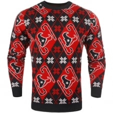 NFL Houston Texans Candy Cane Ugly Sweater