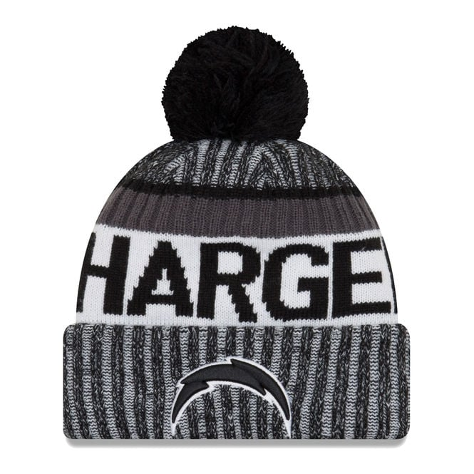 New Era NFL Los Angeles Chargers 2017 Black/White Sideline Sport Knit
