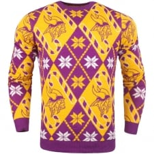 NFL Minnesota Vikings Candy Cane Ugly Sweater