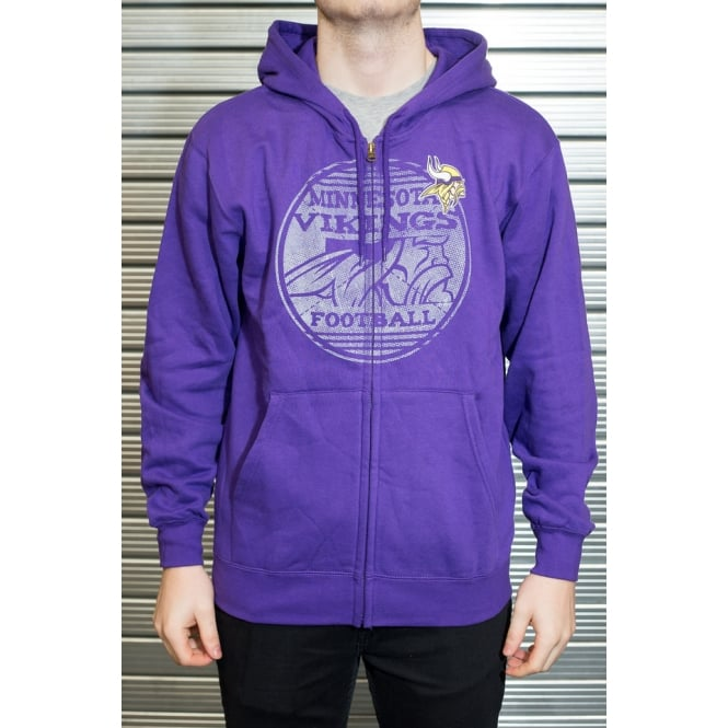 Majestic Athletic NFL Minnesota Vikings Defeat Proof Zip Hood