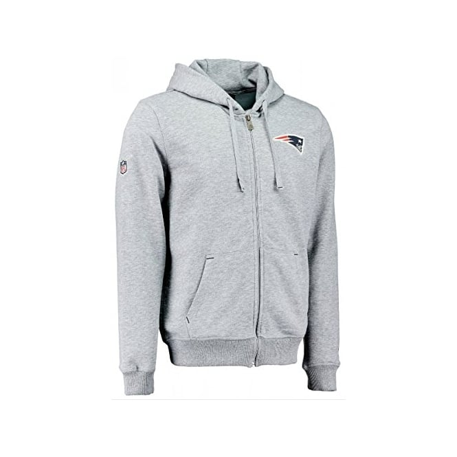 New Era NFL New England Patriots Full Zip Grey Hood