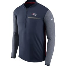 NFL New England Patriots Half-Zip Coach Top