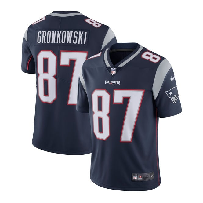 Nike NFL New England Patriots Home Vapor Untouchable Limited Jersey - Rob Gronkowski