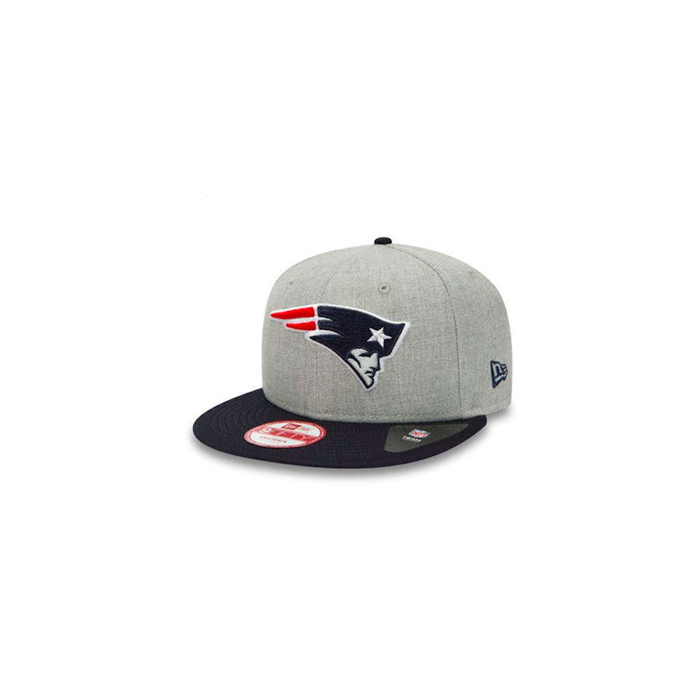 cheapest beauty online here New Era NFL New England Patriots Team Heather Mesh 9Fifty Snapback ...