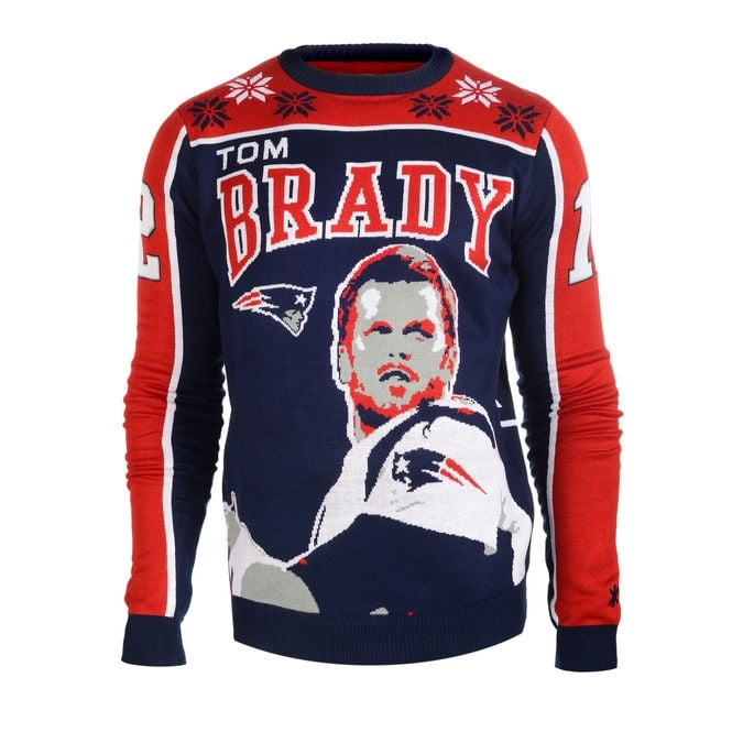 Forever Collectibles NFL New England Patriots Tom Brady Ugly Sweater