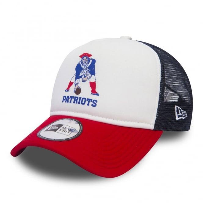 bc2112b8 NFL New England Patriots White Throwback Trucker Cap