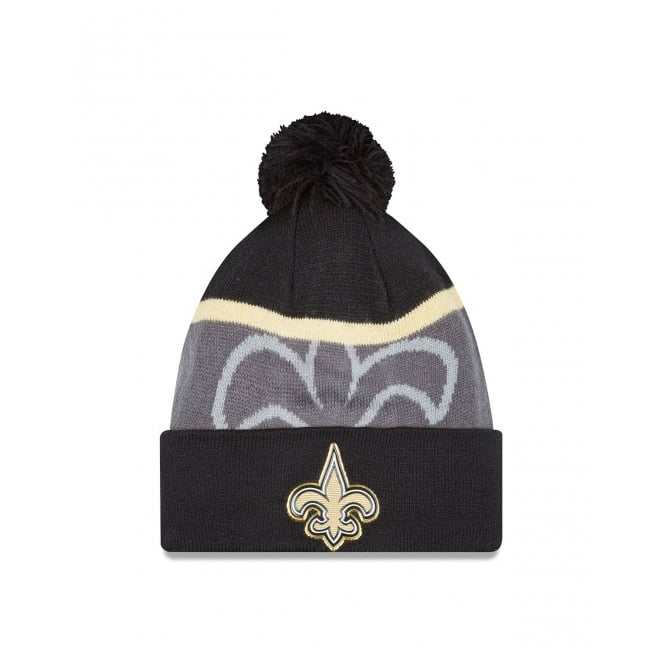 New Era NFL New Orleans Saints Gold Collection Pom Knit