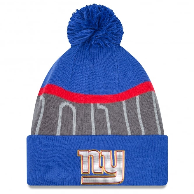 New Era NFL New York Giants Gold Collection Pom Knit