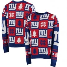 NFL New York Giants Patches Ugly Sweater