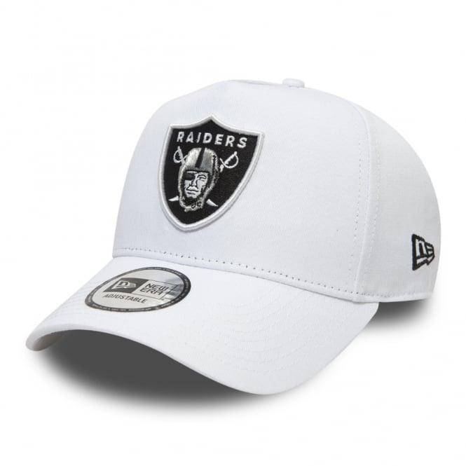 f7042520aab New Era NFL Oakland Raiders Essential A Frame Adjustable Trucker Cap ...