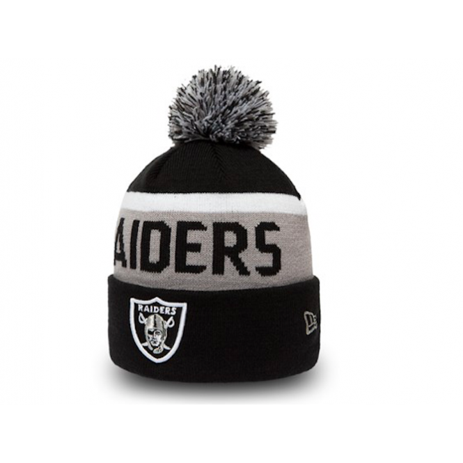 New Era NFL Oakland Raiders Team Jake Cuff Knit