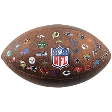 NFL Off Throwback 32 Team Logo Football