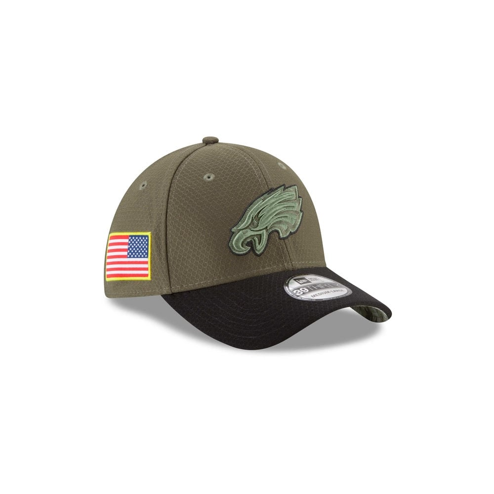 NFL Philadelphia Eagles 2017 Salute to Service 39Thirty Cap - Teams ... 5e5a0554906