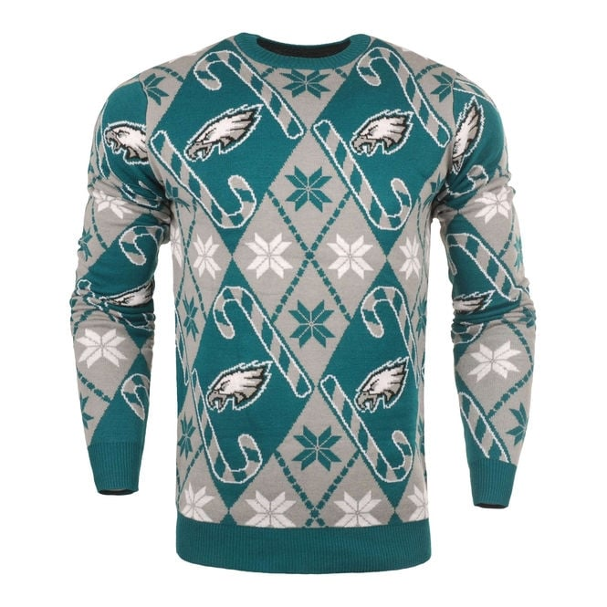 Forever Collectibles NFL Philadelphia Eagles Candy Cane Ugly Sweater