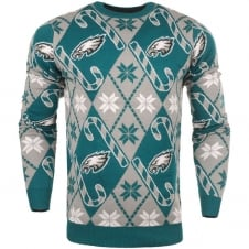 NFL Philadelphia Eagles Candy Cane Ugly Sweater