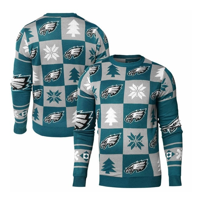 Forever Collectibles NFL Philadelphia Eagles Patches Ugly Sweater