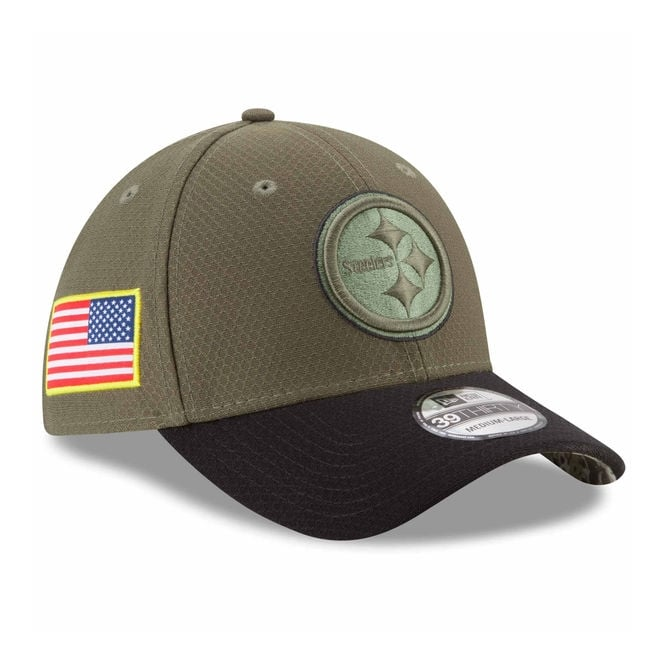 New Era NFL Pittsburgh Steelers 2017 Salute to Service 39Thirty Cap ... d1f5e8ec644