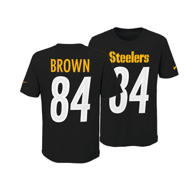 brand new c9a78 adb56 NFL Pittsburgh Steelers Antonio Brown Youth Pride Name and Number 3.0  T-Shirt