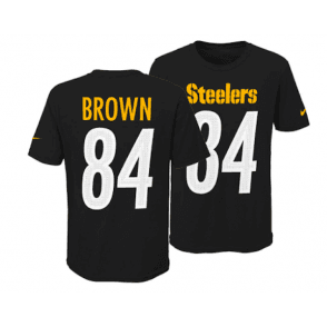 73673557970 NFL Pittsburgh Steelers Antonio Brown Youth Pride Name and Number 3.0 T- Shirt