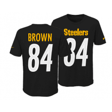 7a19489bb21 NFL Pittsburgh Steelers Antonio Brown Youth Pride Name and Number 3.0  T-Shirt