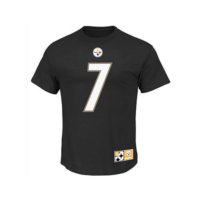 Majestic Athletic NFL Pittsburgh Steelers Ben Roethlisberger Player Name And Number T-Shirt