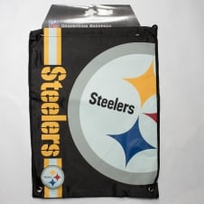 NFL Pittsburgh Steelers Cropped Logo Drawstring Backpack