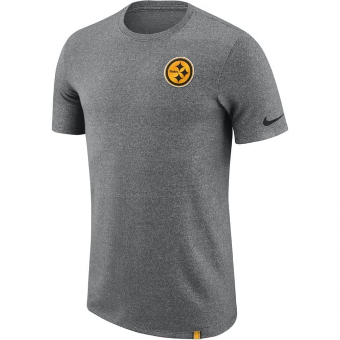 Nike NFL Pittsburgh Steelers Marled Patch Dri-Fit T-Shirt