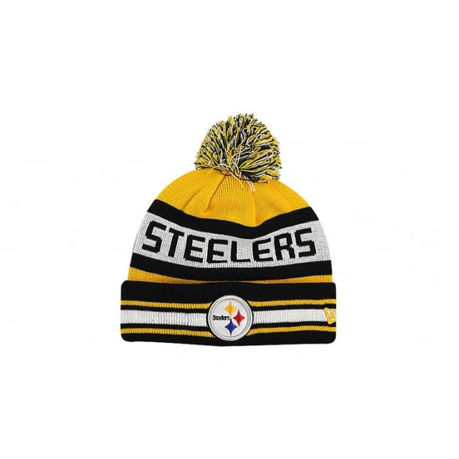 New Era NFL Pittsburgh Steelers Youth Jake Pom Knit