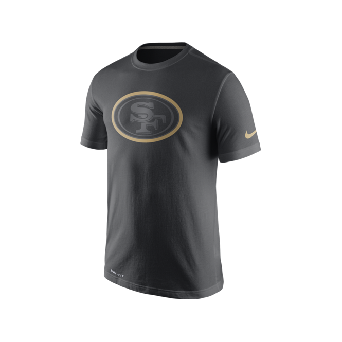Nike NFL San Francisco 49ers Anthracite Travel T-Shirt