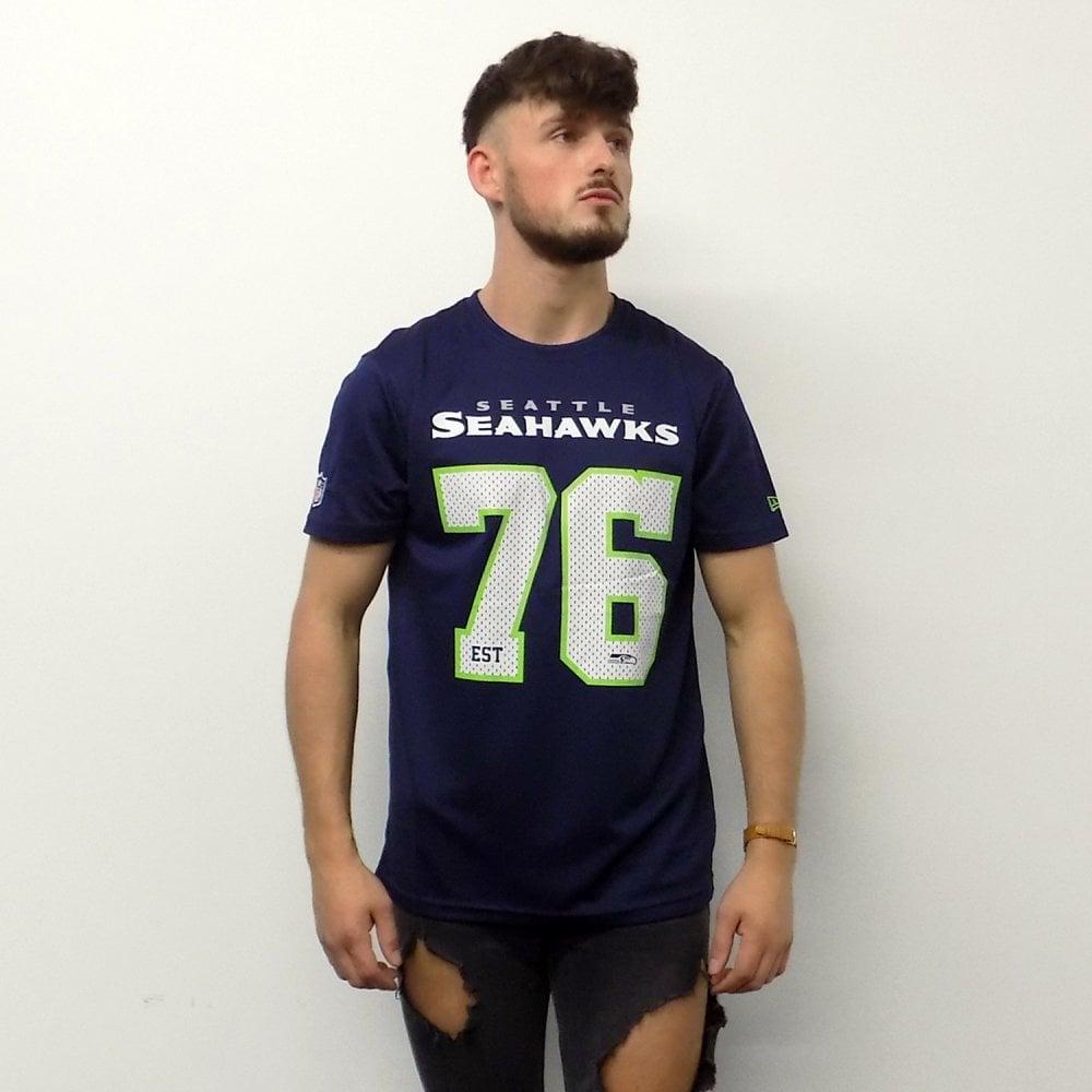 NEW ERA T-SHIRT NFL FOOTBALL JERSEY SEATTLE SEAHWAKS PATRIOTS BEARS RAIDERS CAP