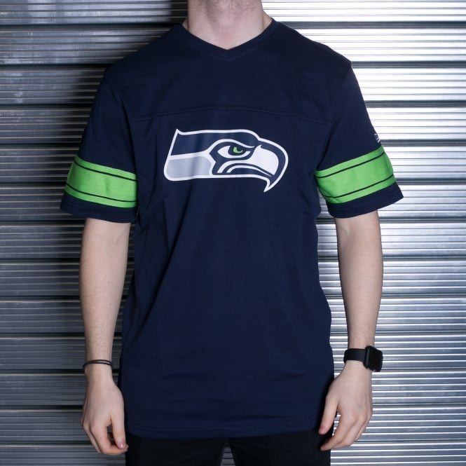 New Era NFL Seattle Seahawks V Neck T-Shirt