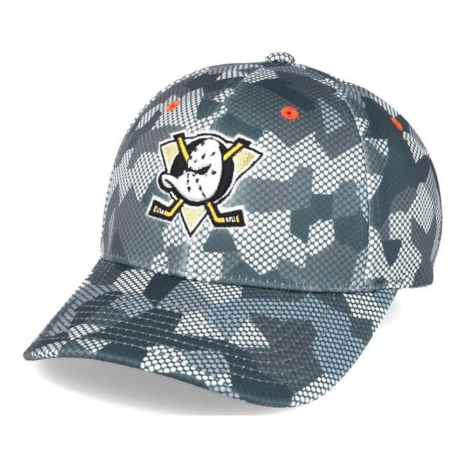 Mitchell & Ness NHL Anaheim Ducks Carbon Camo Slouch Flexfit Cap