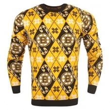 NHL Boston Bruins Candy Cane Ugly Sweater