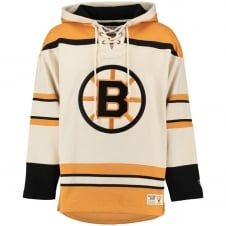 NHL Boston Bruins White Vintage Lacer Jersey Hood