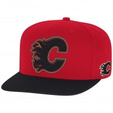 NHL Calgary Flames Face Off Two Tone Snapback Cap