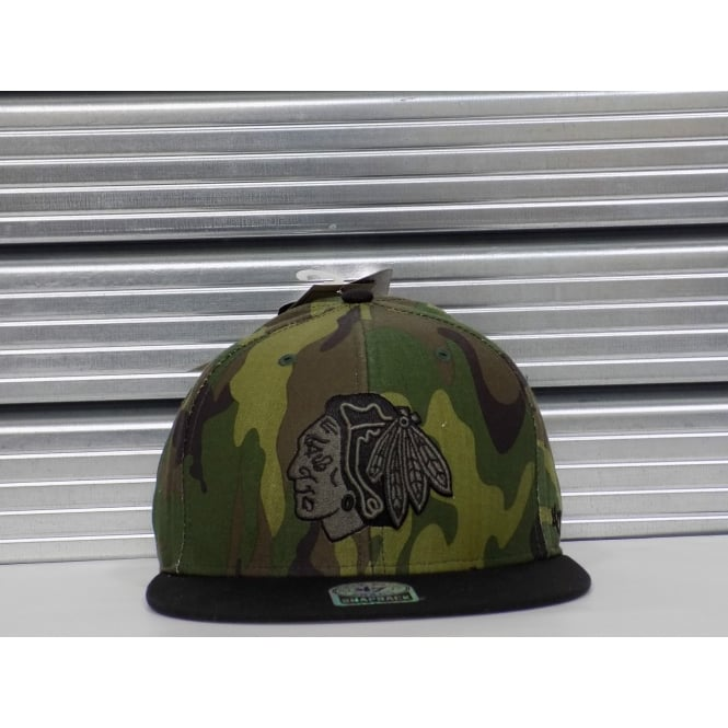 '47 NHL Chicago Blackhawks Camo Snapback