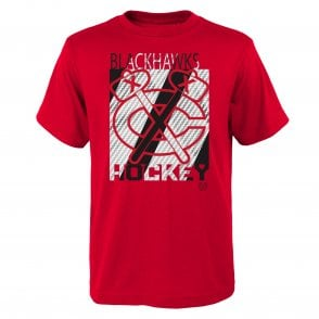 new product 25157 7ac6c NHL Chicago Blackhawks Carbon Crafted Youth T-Shirt