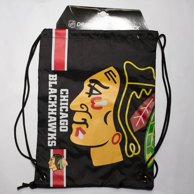 Forever Collectibles NHL Chicago Blackhawks Cropped Logo Drawstring Backpack