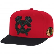 NHL Chicago Blackhawks Face Off Two Tone Snapback Cap