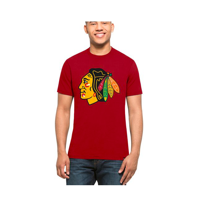 '47 NHL Chicago Blackhawks Red Graphic T-Shirt