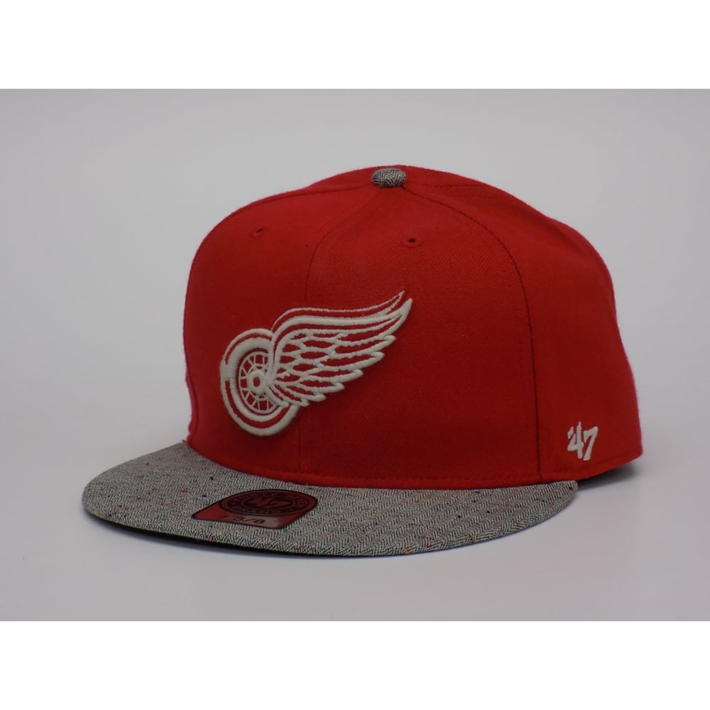 more photos 7b198 18270 ... italy nhl detroit red wings 47039 7 3 8 fitted cap c87ed c94a3