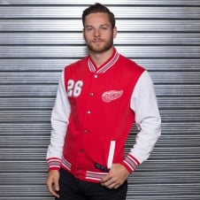 NHL Detroit Red Wings Cotland Fleece Letterman Jacket