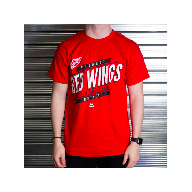 Majestic Athletic NHL Detroit Red Wings Earn Each Play T-Shirt