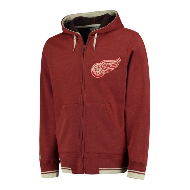 CCM NHL Detroit Red Wings Fleece Full-Zip Hood