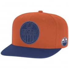 NHL Edmonton Oilers Face Off Two Tone Snapback Cap